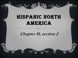 Hispanic north America