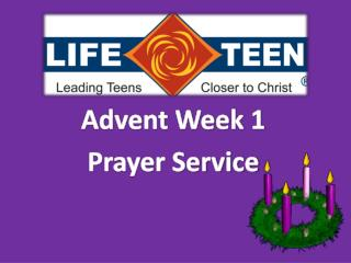 Advent Week 1 Prayer Service