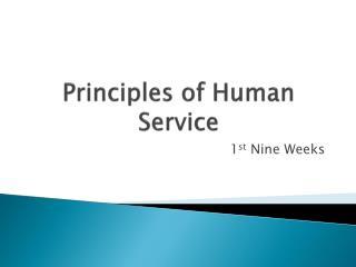 Principles of Human Service