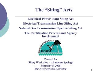 The  Siting  Acts