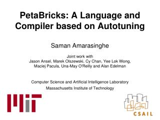 PetaBricks: A Language and Compiler based on Autotuning