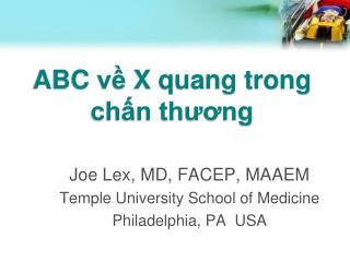 ABC  về X  quang trong chấn thương