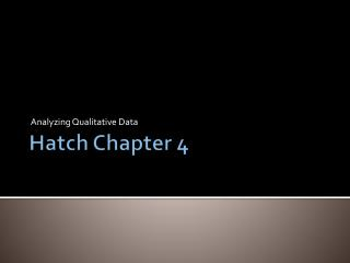 Hatch Chapter 4