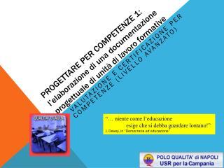 VALUTAZIONE E CERTIFICAZIONE PER COMPETENZE (livello avanzato)