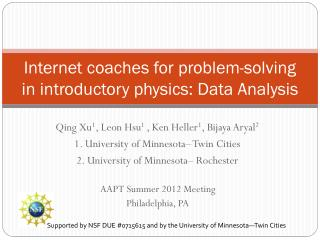 Internet coaches for problem-solving in introductory  physics: Data Analysis