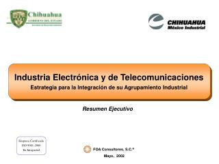 Industria Electr nica y de Telecomunicaciones Estrategia para la Integraci n de su Agrupamiento Industrial