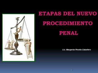 ETAPAS DEL NUEVO   PROCEDIMIENTO  PENAL