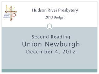 Hudson River Presbytery 2013  Budget