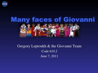 Many faces of Giovanni