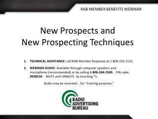 RAB MEMBER BENEFITS WEBINAR