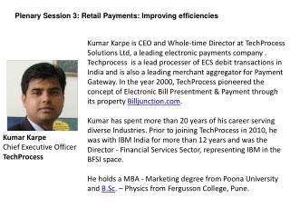 Kumar  Karpe Chief Executive Officer TechProcess