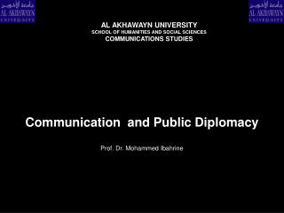 Communication  and Public Diplomacy