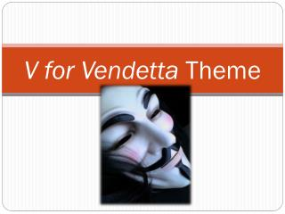 V for Vendetta  Theme