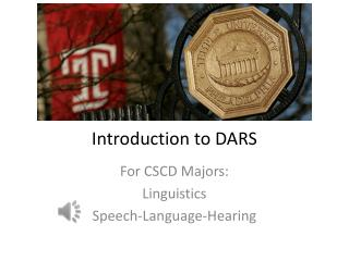 Introduction to DARS