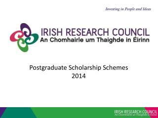 Postgraduate Scholarship Schemes 2014