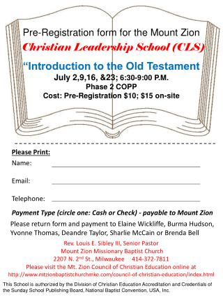Christian Leadership School (CLS)
