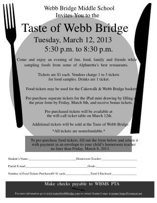 Taste of Webb Bridge