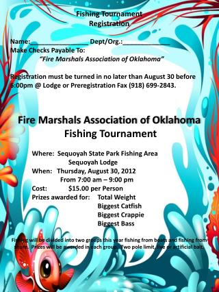 Fishing Tournament Registration Name:________________ Dept/Org.:_____________