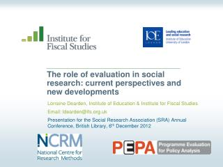 The role of evaluation in social research: current perspectives and new developments