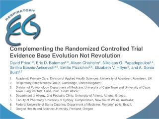 Complementing the Randomized Controlled Trial Evidence Base Evolution Not Revolution