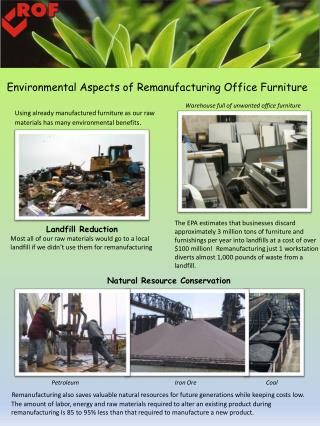 Environmental Aspects of Remanufacturing Office Furniture