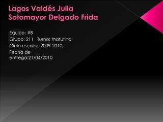 Lagos Valdés Julia Sotomayor Delgado Frida