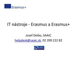 IT nástroje - Erasmus a Erasmus+
