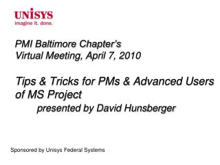 Sponsored by Unisys Federal Systems
