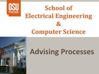 School of  Electrical Engineering  &  Computer Science