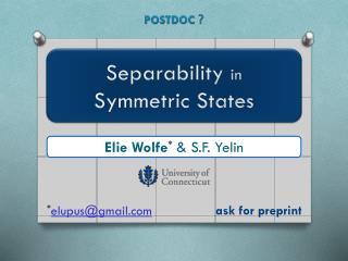 Elie  Wolfe * & S.F.  Yelin