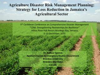 5 th  Caribbean Conference on Comprehensive Disaster Management