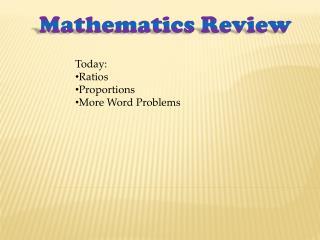 Mathematics Review