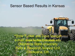 Sensor Based Results in Kansas