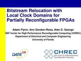 Bitstream Relocation with Local Clock Domains for  Partially Reconfigurable FPGAs