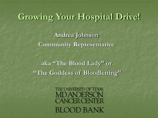 Growing Your Hospital Drive!