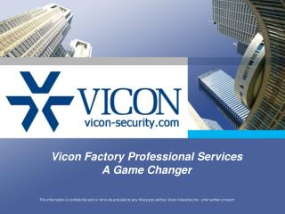 Vicon Factory Professional Services A Game Changer