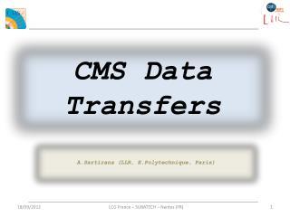 CMS Data Transfers