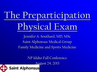 The Preparticipation Physical Exam