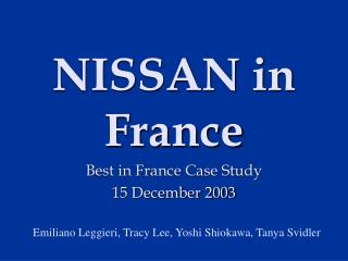 NISSAN in France