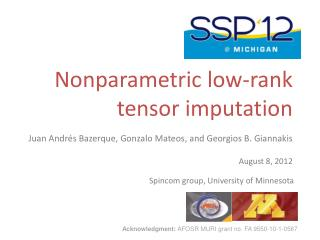 Nonparametric low-rank  tensor imputation