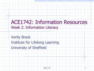 Week2information literacy