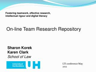 On-line Team Research Repository