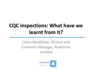 CQC inspections: What have we learnt from it?