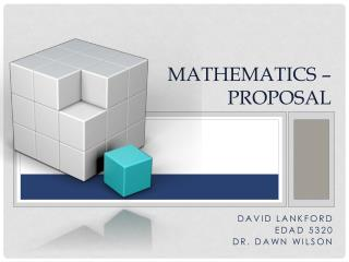 Mathematics � Proposal