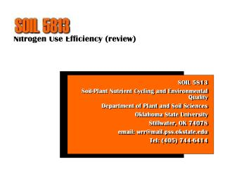 Nitrogen Use Efficiency review