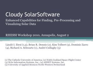 Cloudy SolarSoftware