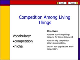 Competition Among Living Things