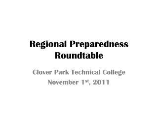 Regional Preparedness Roundtable