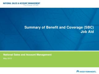 Summary of Benefit and Coverage (SBC) Job Aid