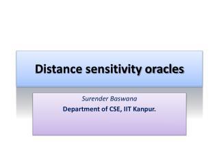 Distance sensitivity oracles